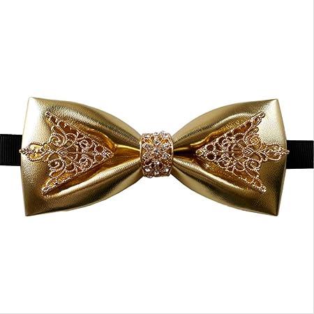 Corbata de metal para hombre con decoración de cristal Corbata de ...