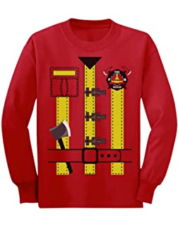 Green Turtle T-Shirts Déguisement de Pompier Costume Halloween T-Shirt  Manches Longues Enfant 7516b78b318