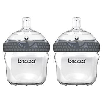 Amazon Com Baby Brezza Two Piece Natural Glass Baby Bottle With