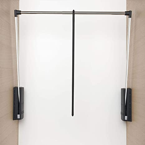 Servetto - Perchero extensible de 77 a 120 cm, color negro ...