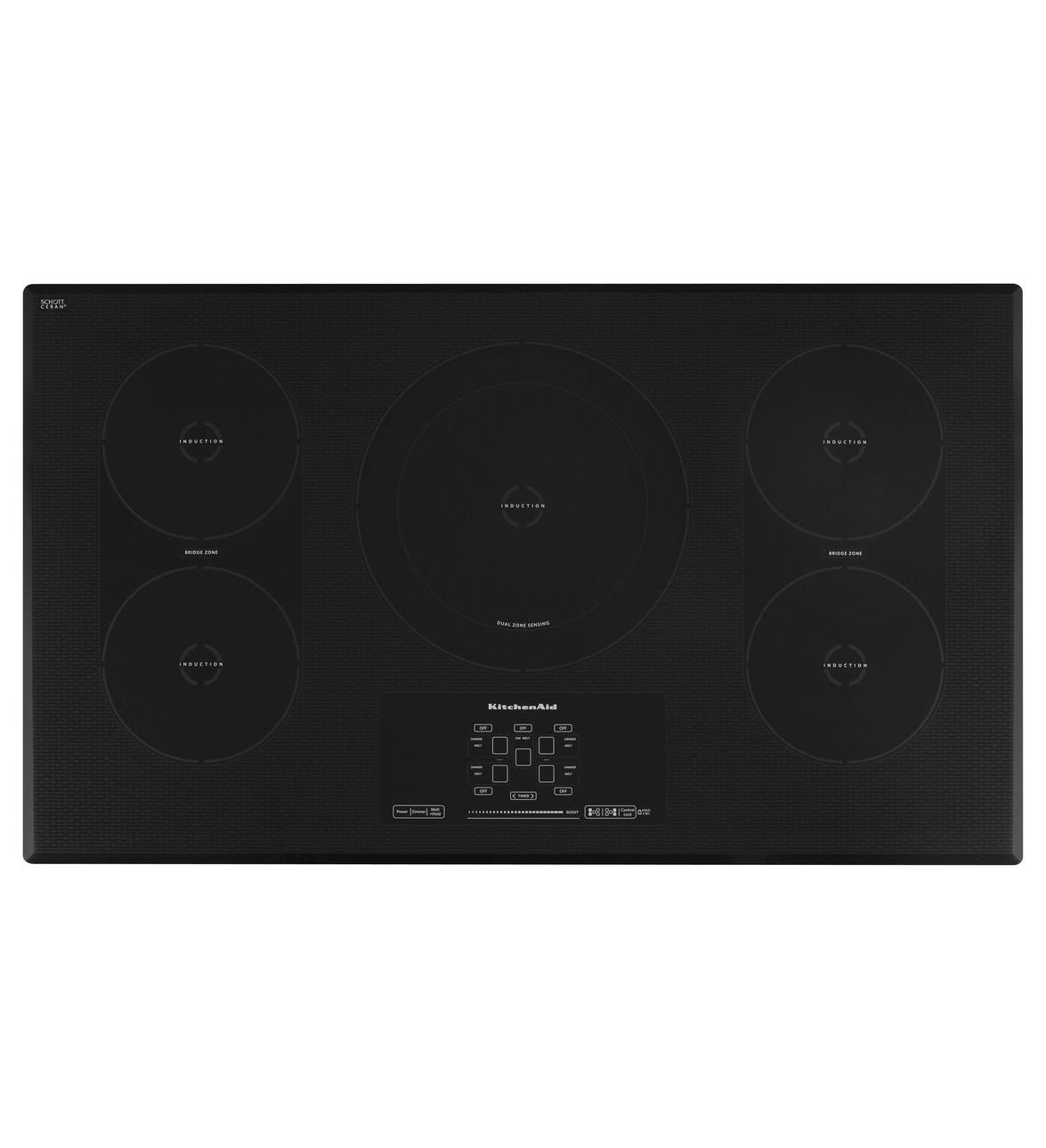 Kitchenaid KICU569XBL 36-Inch, 5-Element Induction Cooktop