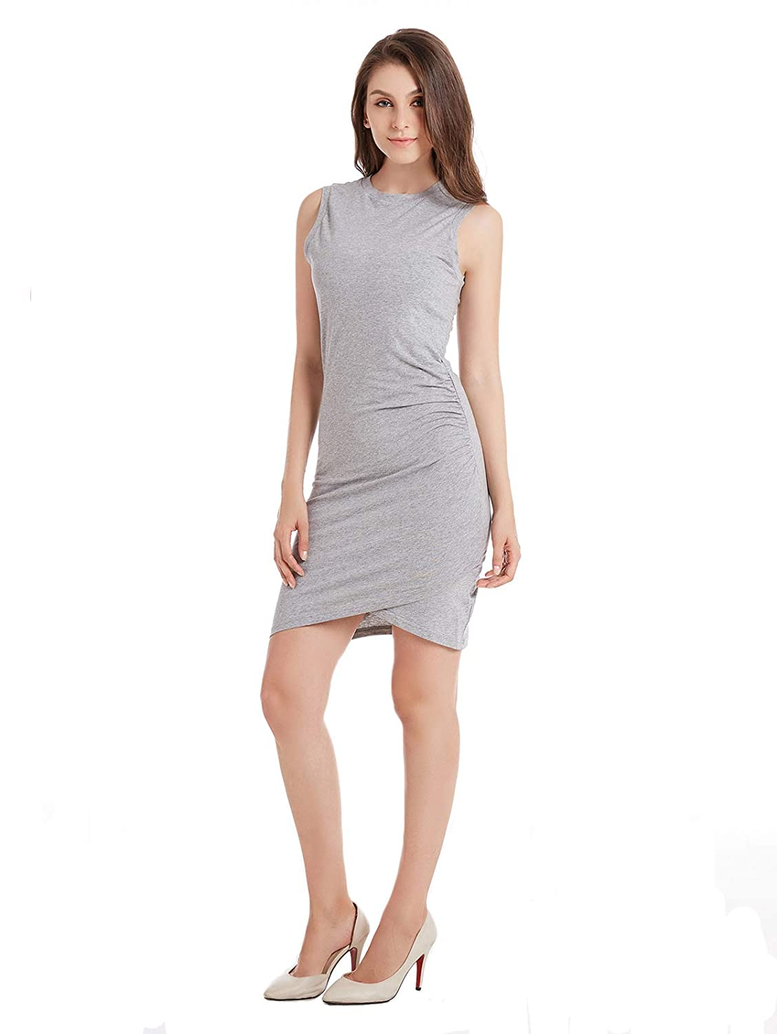 8139f2730b1d ... spandex.lightweight,soft and comfortable premium cotton,the kind that  stretches.unlined.material is thicker,not see through. This jersey dress  features ...