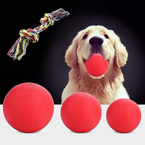 OFFLOAT Pelota para Perros Juguete para Perros Mastica la Pelota de Goma Entrenamiento de Mascotas Pelota Hinchable (XL)