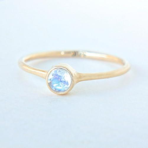 Amazon Yellow Gold Moonstone Ring 14k Gold Natural Moonstone