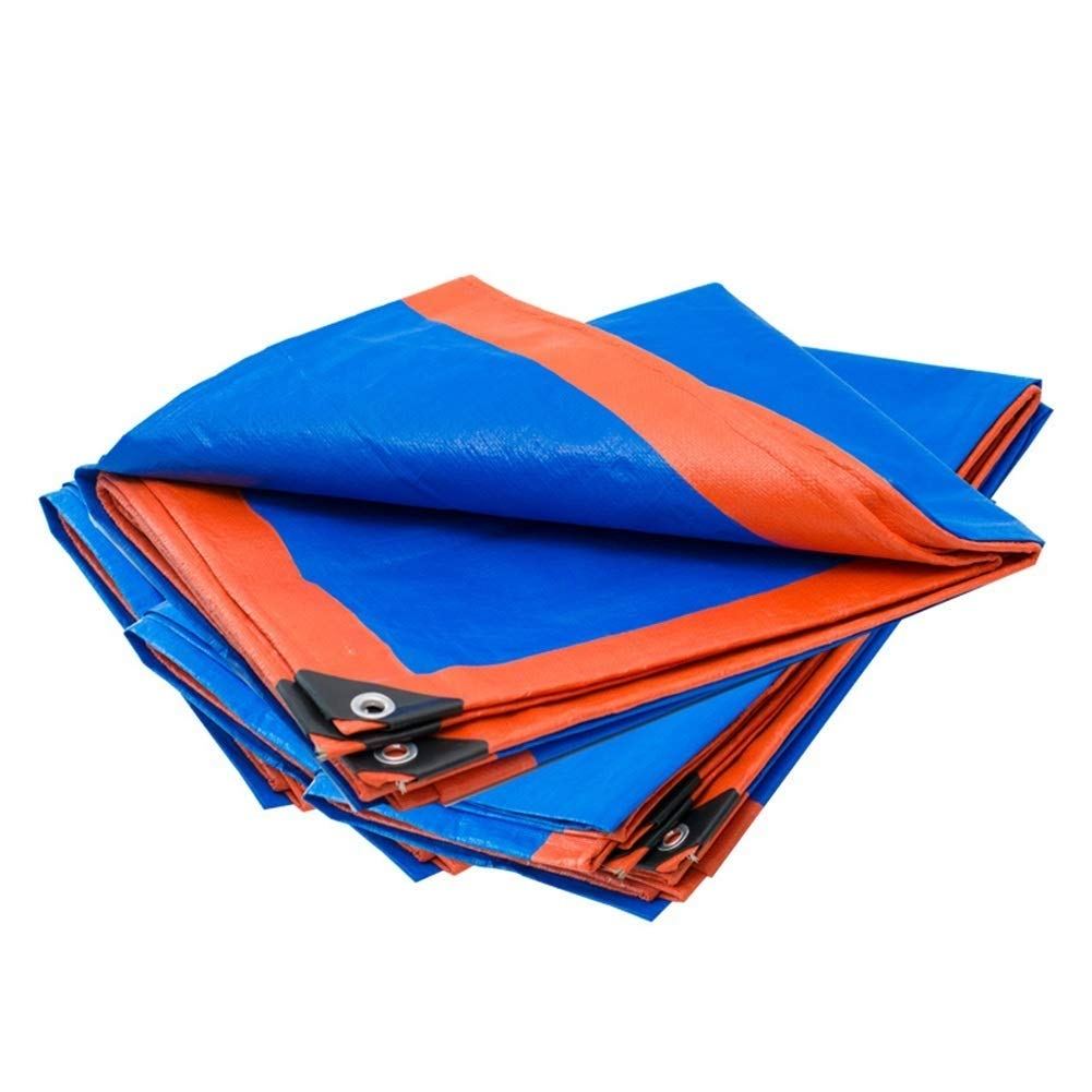防水シート防水防雨ポリエチレン高密度織り保護カバー用庭、180 g/m 2、サイズカスタマイズ可能 FENGMIMG (色 : 青, サイズ さいず : 3.8x4.8m) 3.8x4.8m 青 B07R2MFMFC