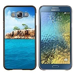 Paradise Rocks- Metal de aluminio y de plástico duro Caja del teléfono - Negro - Samsung Galaxy E7 / SM-E700