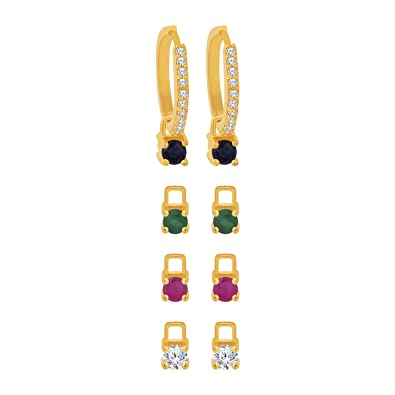 34c854a99 Buy Voylla Classic Collection Hoop Earrings For Women (Golden)  (8907617637518) Online at Low Prices in India