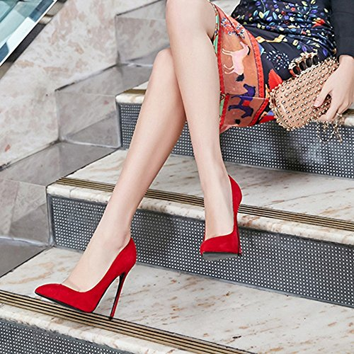 de Con de zapatos tacón alto con alto tacón Color únicos UK3 sexy Tacones Tamaño punta Sexy LHA profesionales Zapatos Rojo de alto negros mate tacón EU36 negros CN35 Rojo 5 OL Superficie Zapatos Hgw1T7qPR