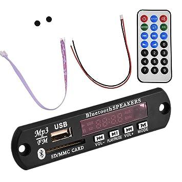 Zerone MP3 incorporados Tarjeta Wireless Bluetooth de Audio MÓDulo con Mando a Distancia USB SD FM Hands-Free Call