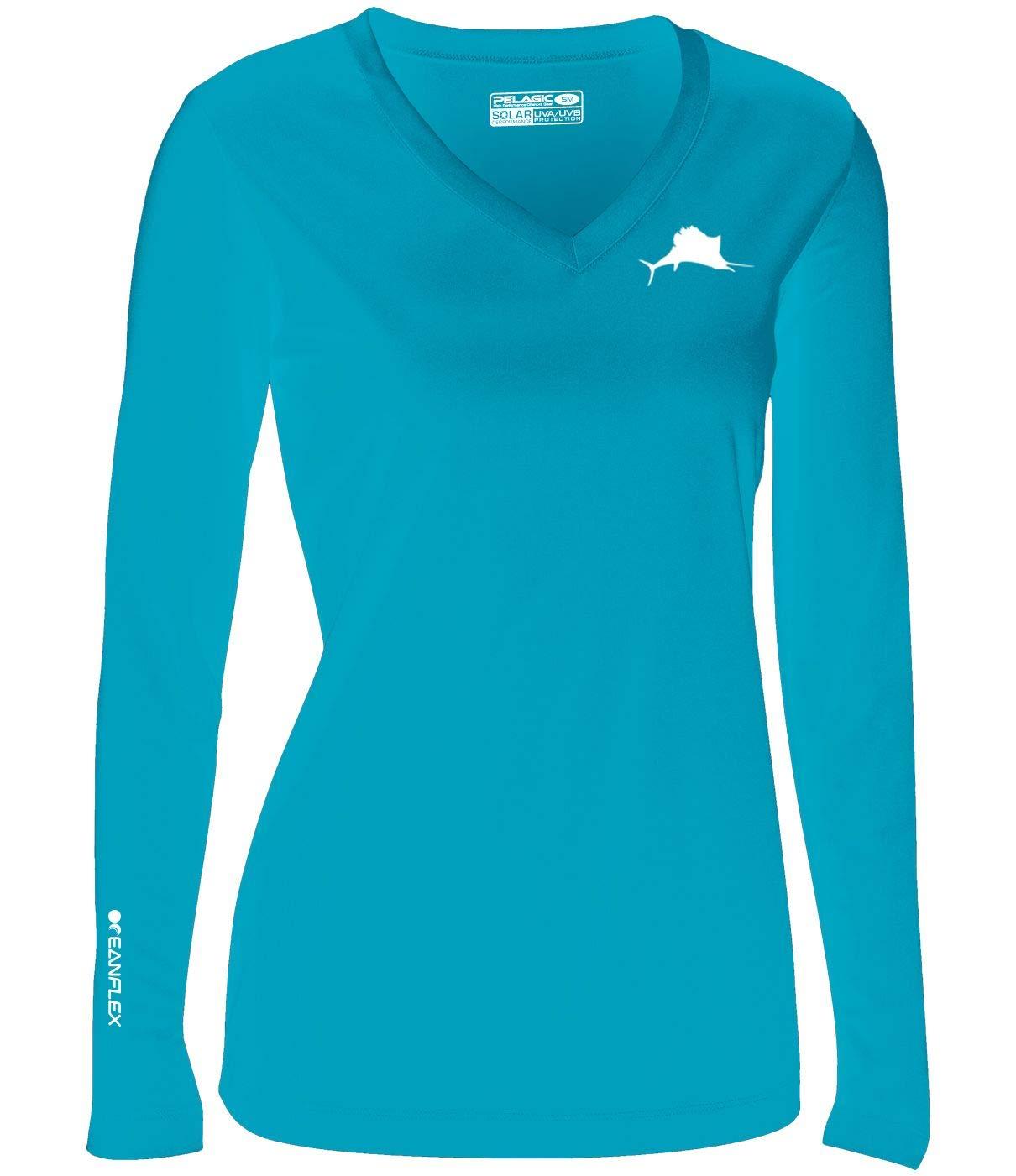 Pelagic Women's Oceanflex Solar Performance Long Sleeve Shirt   UPF 50+ Sun Protection