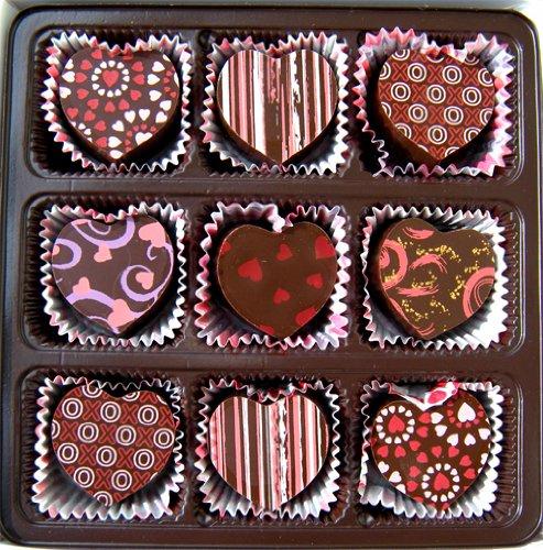 Amazon Com Heart Shaped Truffle Assortment 9 Chocolate Truffles