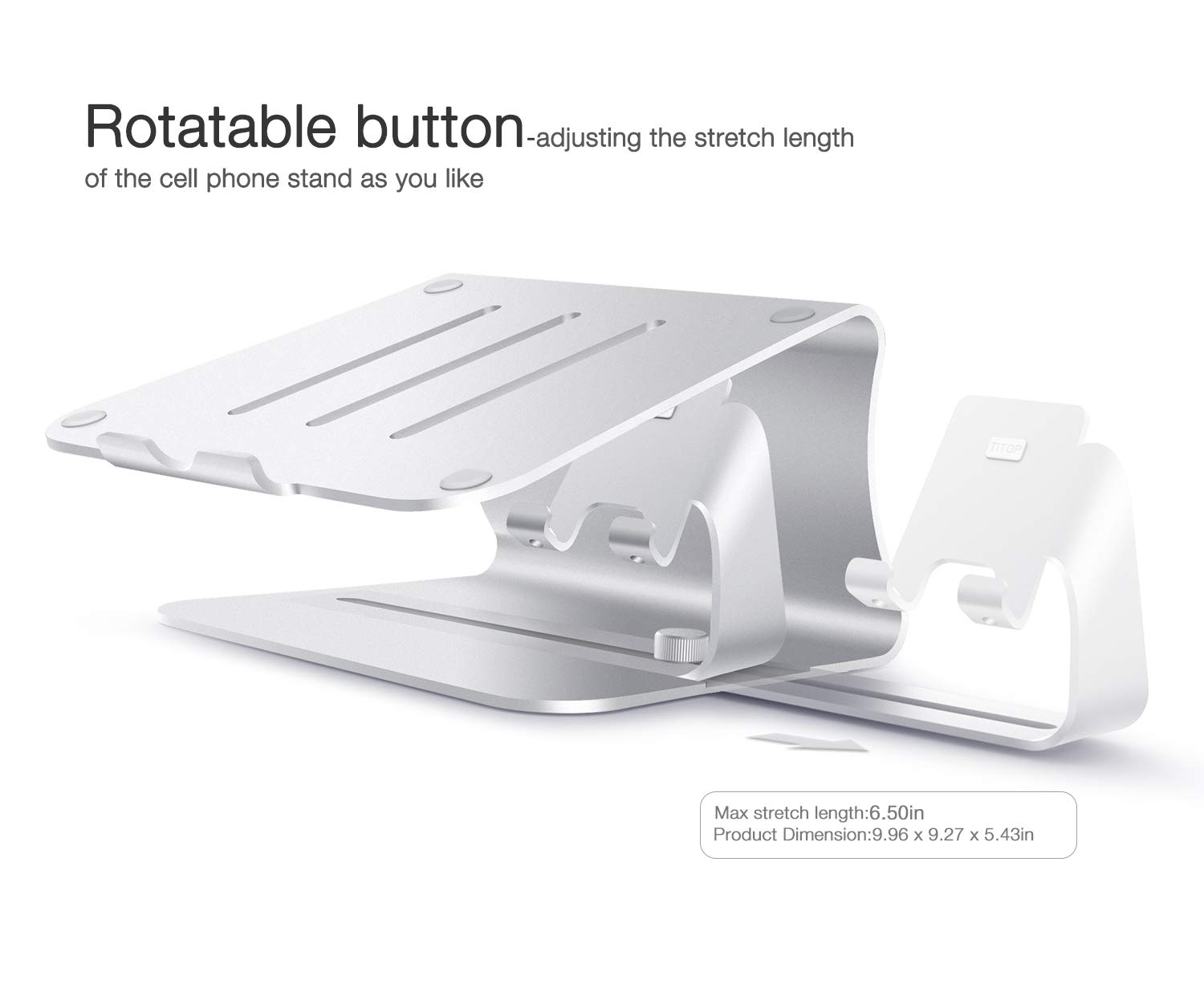 2 in 1 Laptop and Phone Stand - Bestand Aluminum Cooling Computer Stand: [UPDATE VERSION] Stand, Holder for Apple Macbook Air, Macbook Pro, All Notebooks, iPhone Series, Silver (Patented) by Bestand (Image #8)
