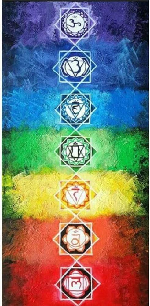 zmigrapddn Rainbow 7 Chakra Mandala Boh/ême Tapisserie Murale Tapisserie Tapisserie Summer Throw Beach Serviette Tapis de Yoga