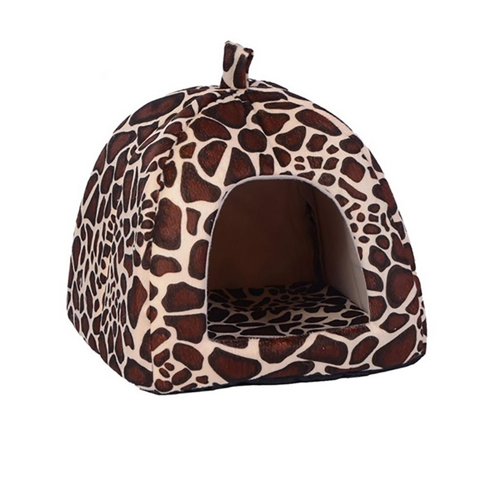 Daycount® Warm Soft Majestic Foldable Dog Cat Tent Bed Animal Cave Puppy Cute Pet Cat House 5 Sizes (X-Large, Deer)
