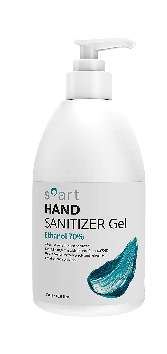 Soart Hand Sanitizer, Food Grade Ethyl Alcohol (70%), Fights Germs & Bacteria, Made in Korea, 500ml