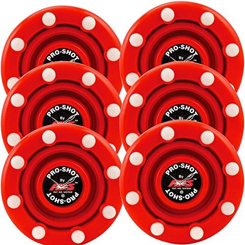 IDS 6 Pack of Roller Hockey Puck Pro Shot - Roller Puck Hockey