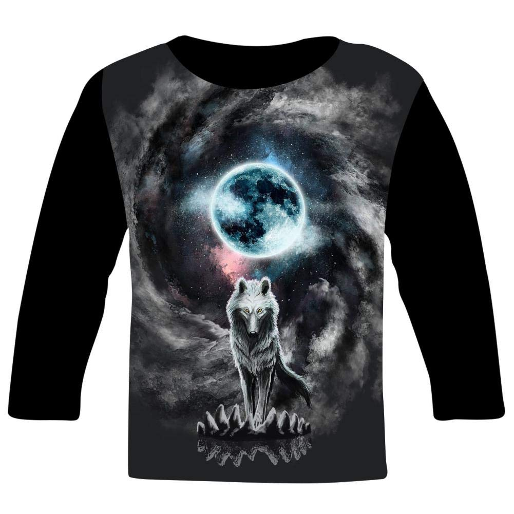 Kids The Lone Wolf O-Neck T Shirts for Fashion Children Boys Girls Long Sleeve Tee Shirt