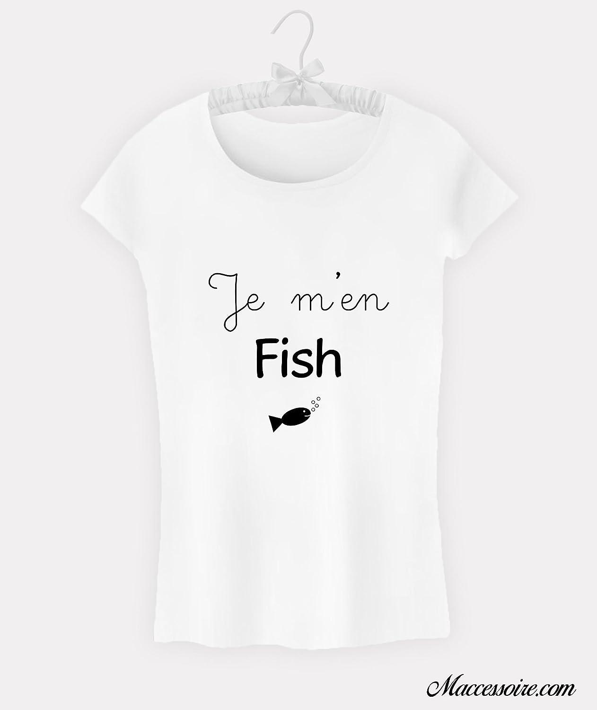 T-Shirt Femme Je m'en fish