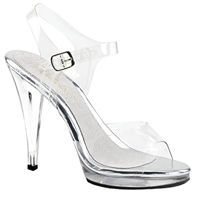 408 Damen Higher Flair Pleaserusa Heels Sandaletten Transparent WD2H9IE