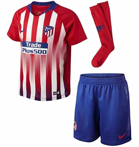Image Unavailable. Image not available for. Color  Nike 2018-2019 Atletico  Madrid Home Little Boys Mini Kit 74a2ef5b54197