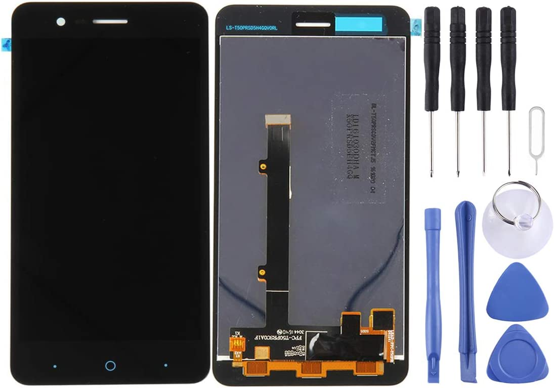 LCD Screen and Digitizer Full Assembly with Frame for ZTE Blade A510 BA510 BA510C Color : Black