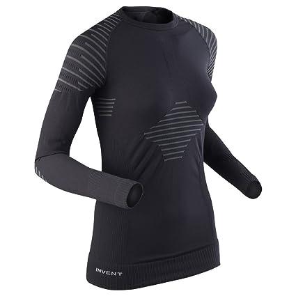 X-Bionic Lady Invent Uw Shirt Long_Sl, Donna, Nero/Antracite, M