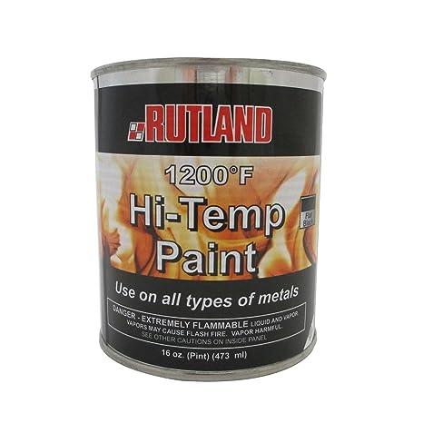 Rutland - Pintura mate para estufa, 1200 grados Fahrenheit, 450 ml, color negro: Amazon.es: Hogar