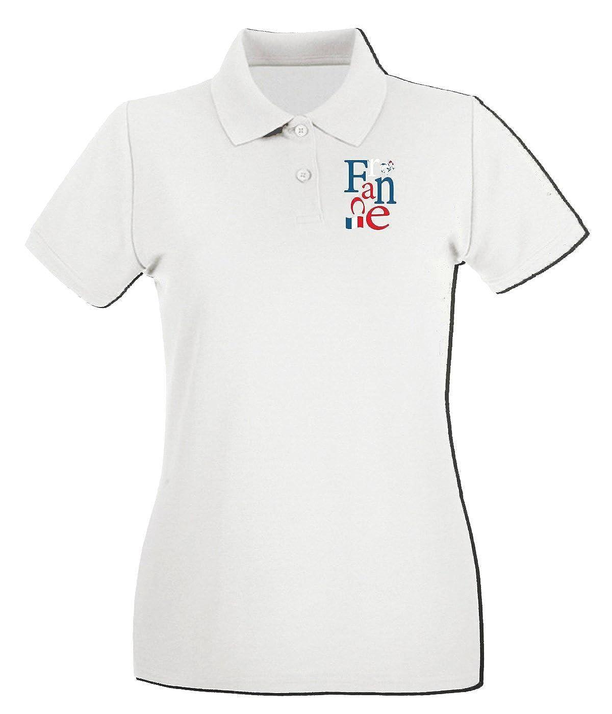 T-Shirtshock - Polo para mujer WC0052 FRANCIA FRANCE, Talla L ...