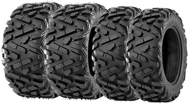 ITP MUD LITE  25x8-12 FRONT 25x10-12 REAR 4 FOUR ATV TIRE SET MADE IN USA NEW