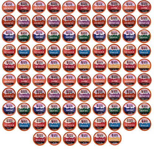 96 Count K-Cup Variety Pack 10 Distinct Beantown Roasters Coffees No Decaf No Flavored for Keurig Brewers (K Cup Variety Pack Light Roast)