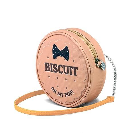 Pop! Biscuit Runde Umhängetasche Borsa Messenger, 18 cm
