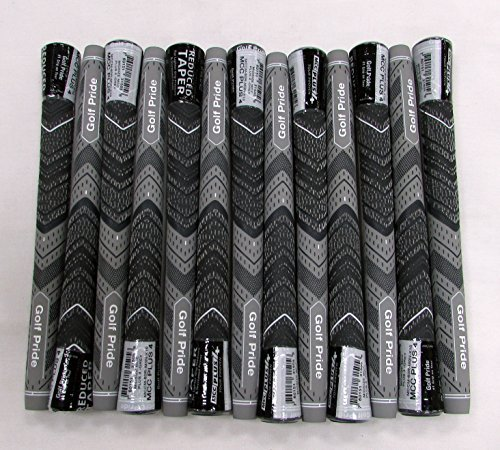 13 Golf Pride MCC PLUS 4 Midsize Gray Grips - 18069