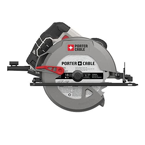 PORTER-CABLE 7-1 4-Inch Circular Saw, Heavy Duty Steel Shoe, 15-Amp PCE300