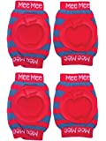 Mee Mee Soft Baby Knee/Elbow Pads - Pack of 2 (Red)