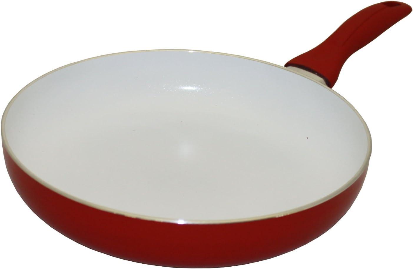 Amazon Com Concord Cookware Ceramic Coated Non Stick Fry Pan 12 Inch Red Sarten De Ceramica Kitchen Dining