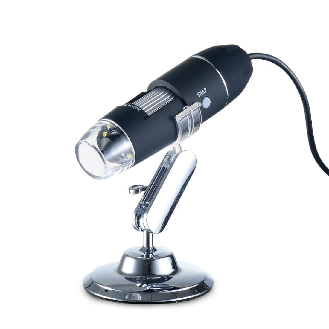 Chaoiwah USB Digital Microscope with 8 pcs leds Flexible Arm Observation Stand professional microscope for xp win7 Win8 win10 (480P, 1000x Magnification)