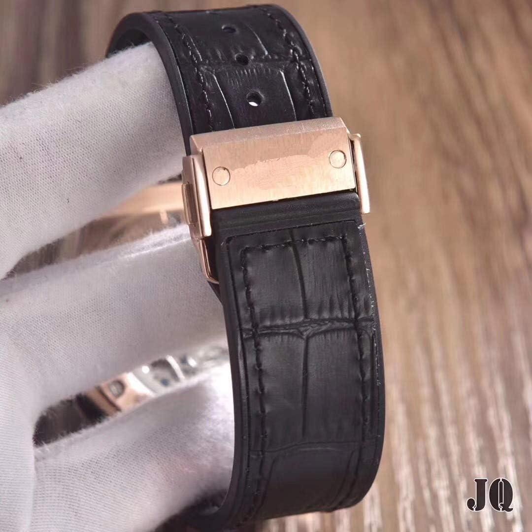 Orologio meccanico automatico da uomo di in acciaio inossidabile acciaio inossidabile oro rosa grigio argento titanio scheletro nero zaffiro pelle Rosegoldblack