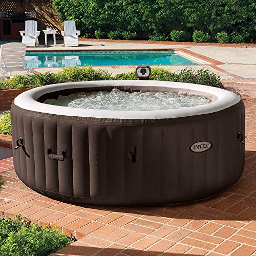 Intex PureSpa 4Person Inflatable Bubble Jet Spa Portable Heated Hot