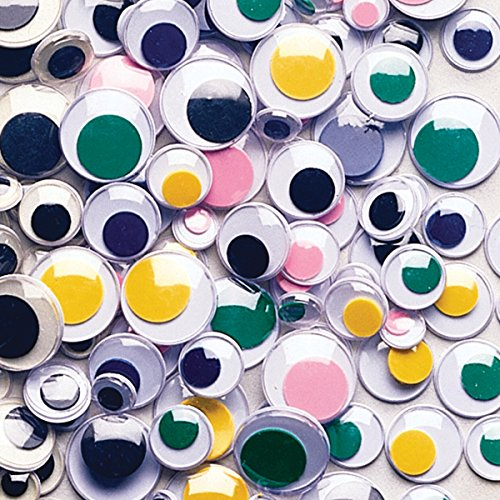 Creativity Street 344601 Wiggle Eyes Assortment, Assorted Sizes, Assorted Colors, 100/Pack (CKC344601)