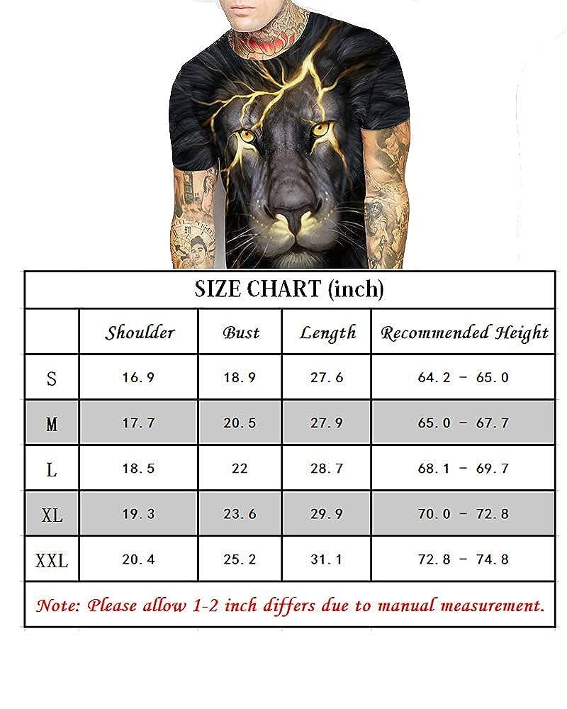 Tall Size Hipster Short Sleeve Shirt Tops for Men Boys Teens Adult