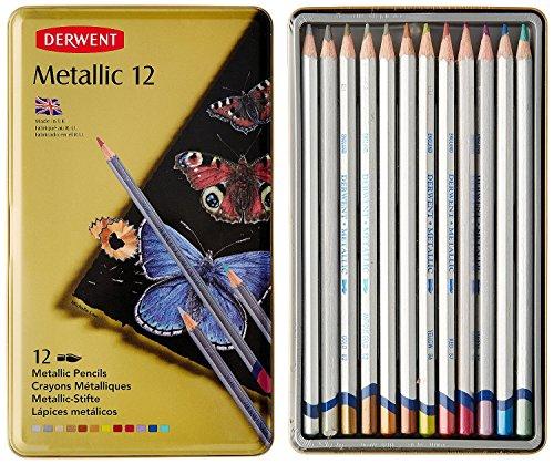 Derwent Watercolor Pencil Box (Derwent Watercolor Pencils, Metallic, Water Color, Drawing, Art, 12-Pack (0700456) Case of 6)