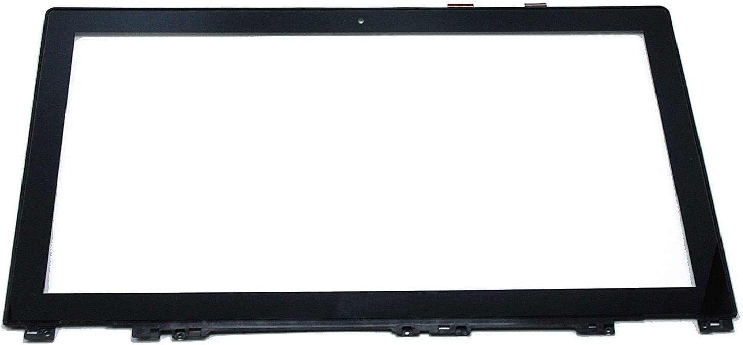 Bblon 15.6 inch Replacement Touch Screen Digitizer Front Glass Panel + Bezel for Lenovo IdeaPad U530 20289 Touch Ultrabook