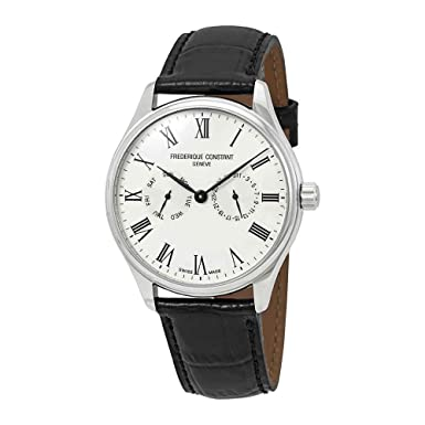 Frederique Constant Classics Silver Dial Leather Strap Men s Watch FC-259WR5B6