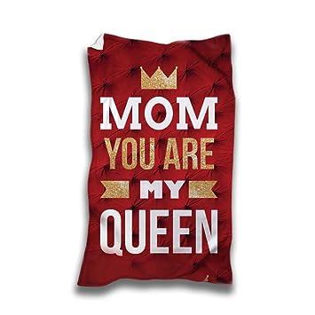 Toalla Playa Idea regalo día de la madre mom You Are My Queen: Amazon.es: Hogar