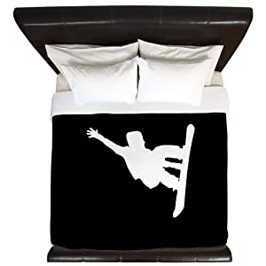 CafePress Snowboarder King Duvet Cover, Printed Comforter Cover, Unique Bedding, Microfiber