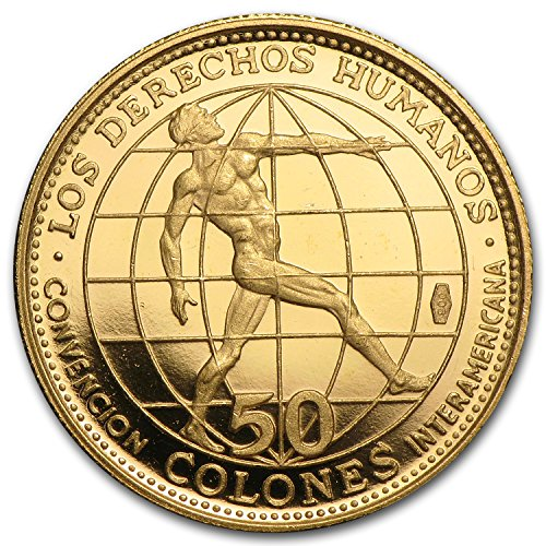1970 CR Costa Rica Gold 50 Colones Proof Gold About Uncirculated