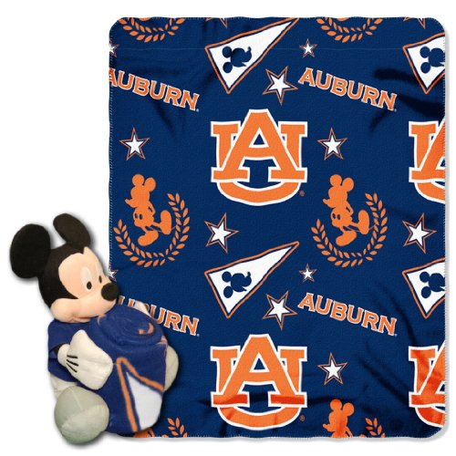 (The Northwest Company Officially Licensed NCAA Auburn Tigers Co Disney's Mickey Hugger and Fleece Throw Blanket Set)