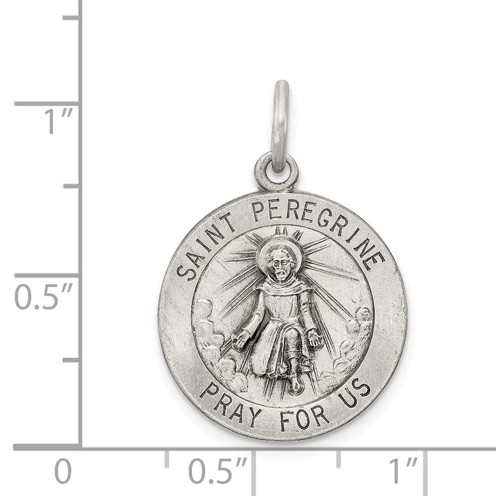 925 Sterling Silver St Peregrine Medal