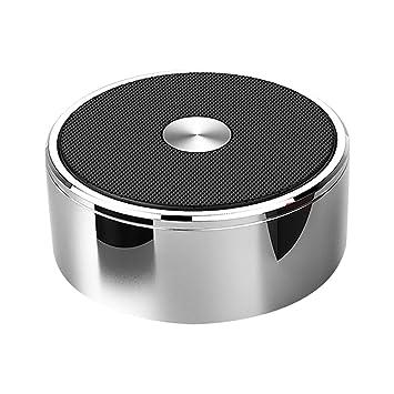 Ronda altavoz Bluetooth portátil pequeño tamaño Super Loud potente fuerte Metal, fácil de graves mejorado