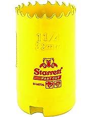 Starrett 63FCH032 Corona Perforadora, Amarillo 32 mm